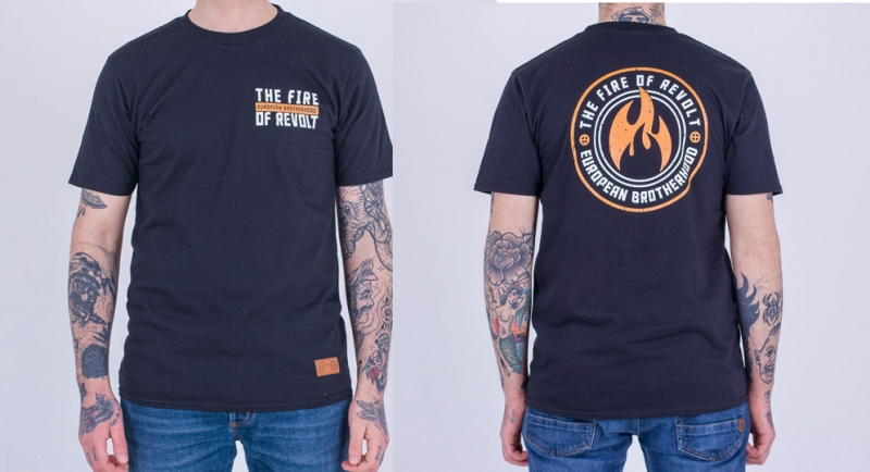 T-SHIRT BROTHEROOD FIRE OF REVOLT BLACK