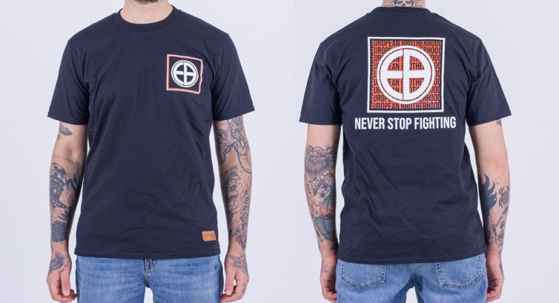 T-SHIRT BROTHEROOD NEVER STOP FIGHTING BLACK