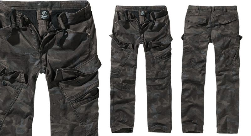 SLIM FIT TROUSERS BLACK CAMO Shorts & trousers