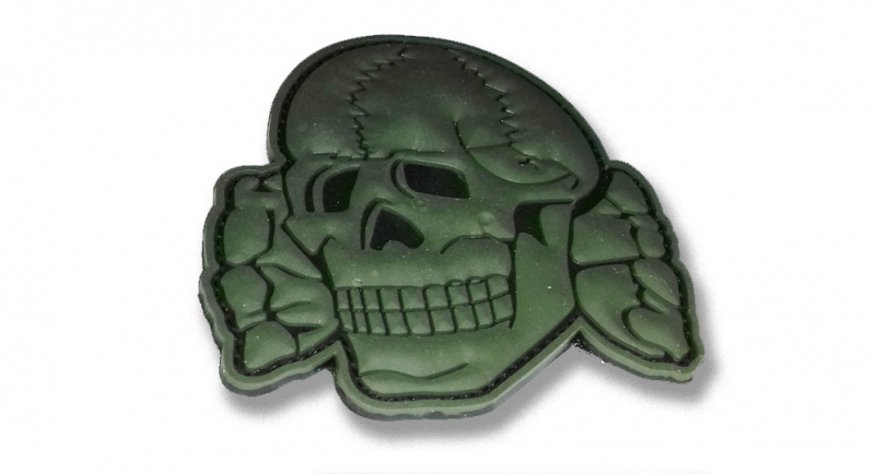 RUBBER PATCH TOTENKOPF OLIVE Patches