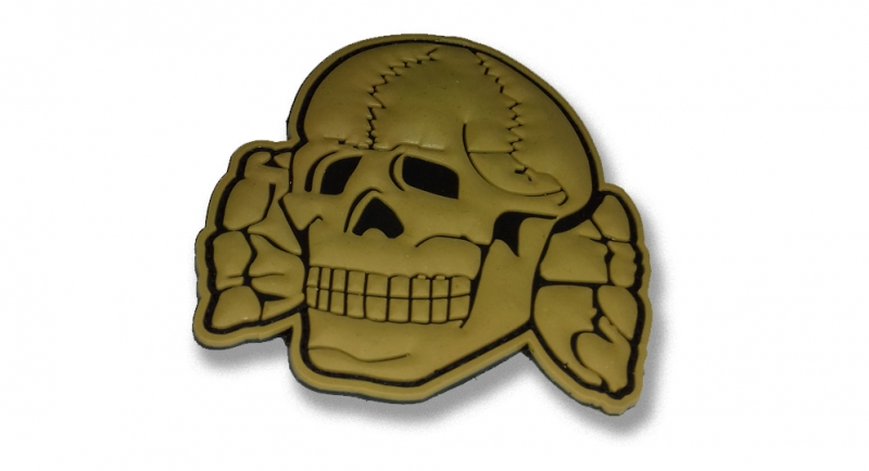 RUBBER PATCH TOTENKOPF SAND Patches