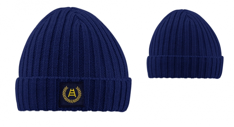 BEANIE RIBBED BLUE ALLORO SCALA APPLICATION