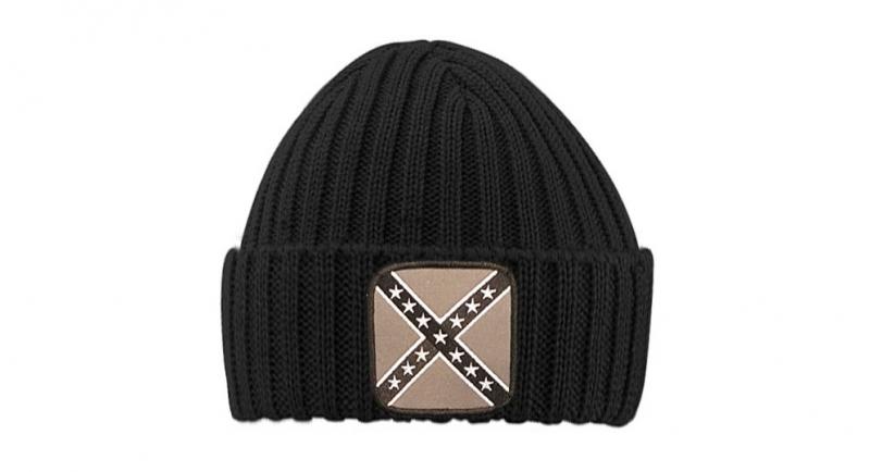 BEANIE RIBBED BLACK CONFEDERATE Caps