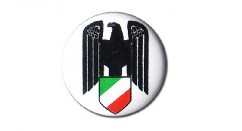 BUTTON PIN AQUILA ITALIA Pins & Stickers