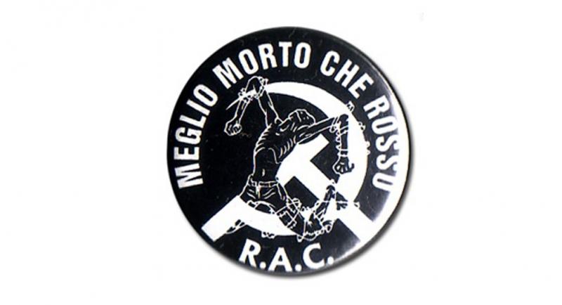BUTTON PIN MEGLIO MORTO CHE ROSSO Pins & Stickers