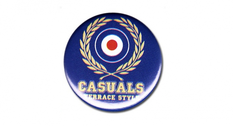 BUTTON PIN CASUALS LAUREL Pins & Stickers