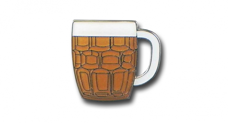 PIN-BEER GLASS