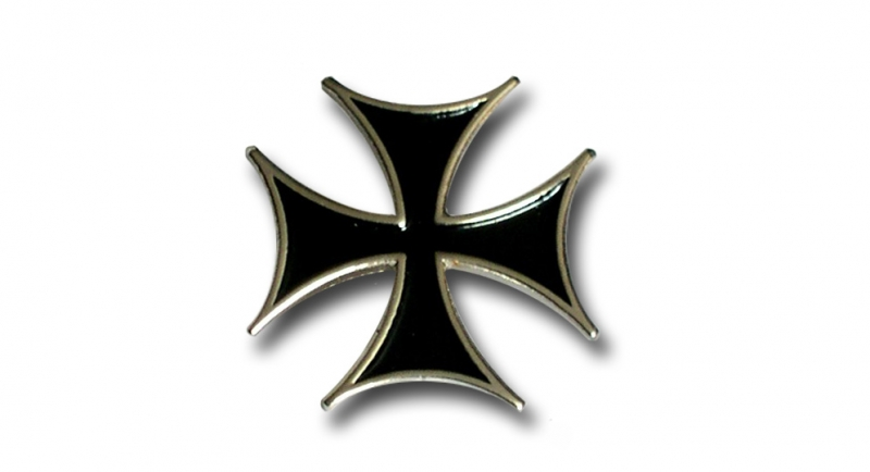 PIN BLACK CROSS Pins & Stickers