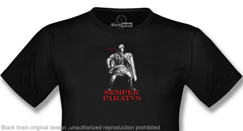 T-SHIRT DECIMA LEGIO SEMPER PARATVS BLACK T-shirts