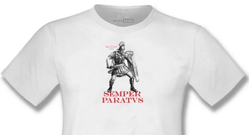 T-SHIRT DECIMA LEGIO SEMPER PARATVS WHITE T-shirts