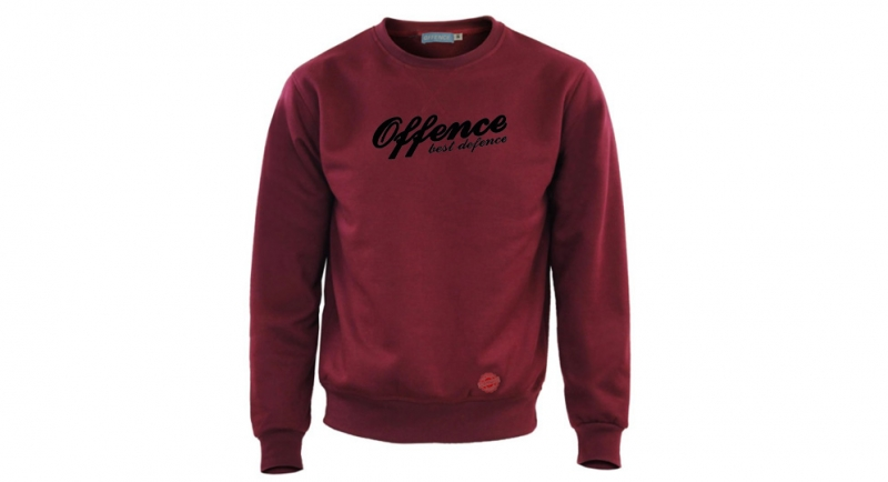 SWEAT OFFENCE BEST DEFENCE BORDEAUX Offence best defence