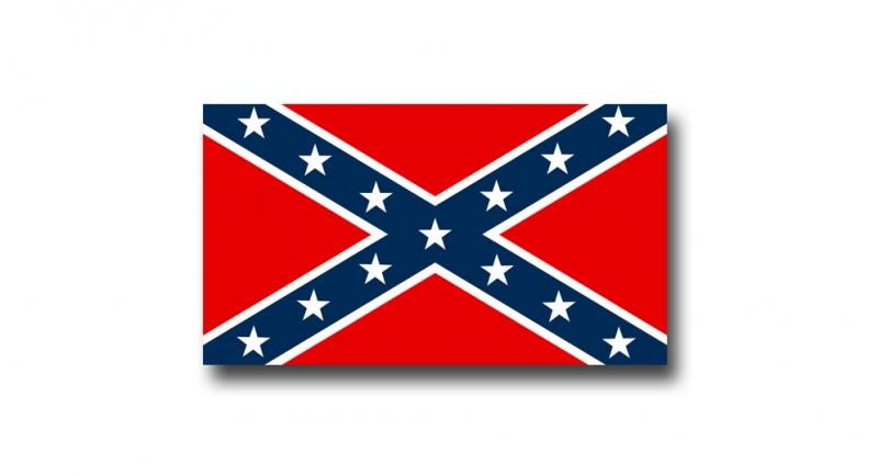 STICKER CONFEDERATE FLAG Pins & Stickers