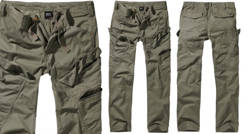 TROUSERS SLIM FIT OLIVE Shorts & trousers