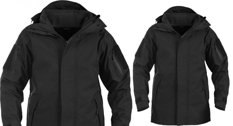 CHECK POINT PARKA BLACK Jackets